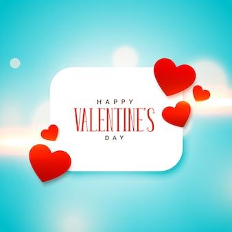 Netter liebesherzhintergrund für valentinstag