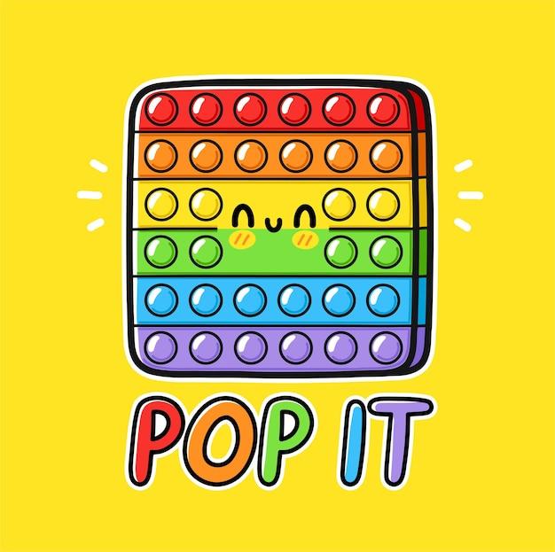 Netter lustiger pop es zappelt sensorisches spielzeugdesign