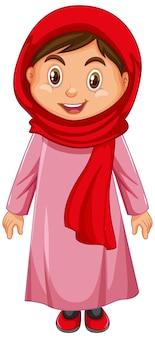 Netter muslimischer mädchencharakter