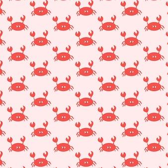 Netter nahtloser vektormusterhintergrund der krabbe