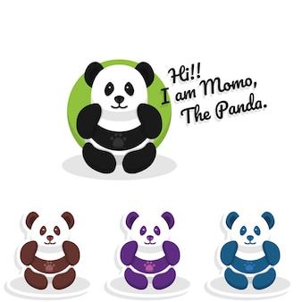 Netter panda charakter für hintergrund