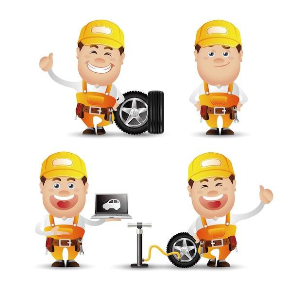 Netter people-professional-mechaniker