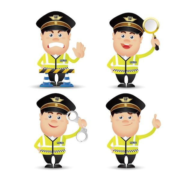Netter people-professional-polizist
