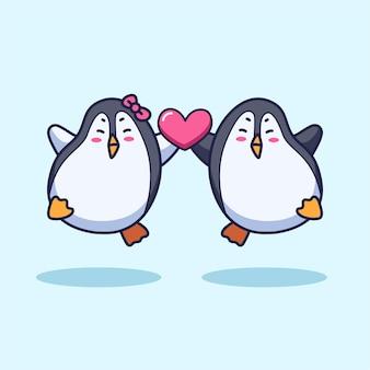 Netter pinguin-cartoon
