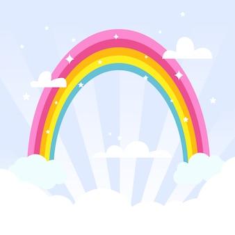 Netter regenbogen am himmel