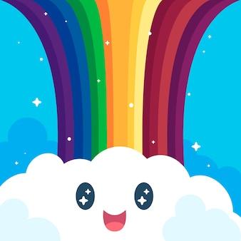 Netter regenbogen