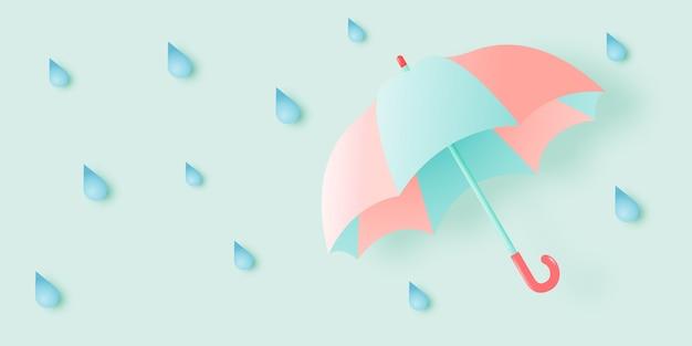 Netter regenschirm für monsunzeit