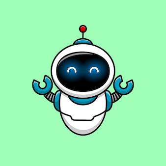 Netter roboter, zeichentrickfigur