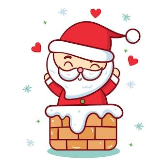 Netter sankt-vektor weihnachtscharakter