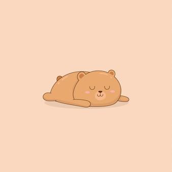 Netter schlafender babybär