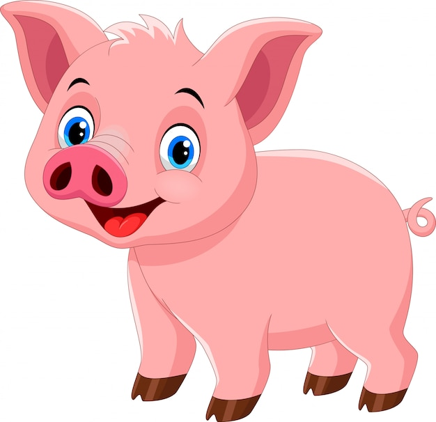 Netter schweinekarikatur