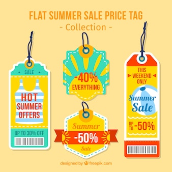 Netter sommer-rabatt-tags