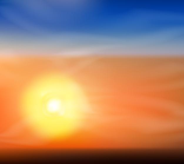 Netter sonnenaufgang oder sonnenunterganghintergrund