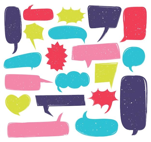 Netter spracheblasen-gekritzelsatz