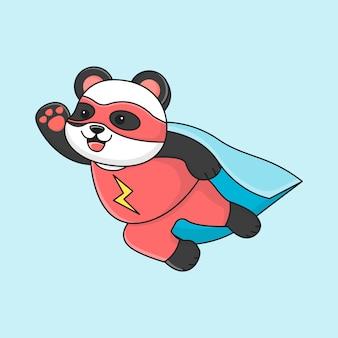 Netter superpanda fliegt