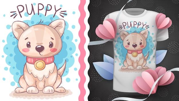 Netter teddyhund - idee für druck-t-shirt