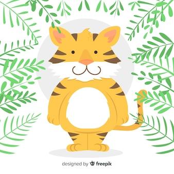 Netter tigerhintergrund