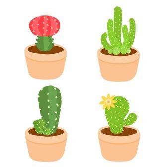 Netter und bunter kaktustopf