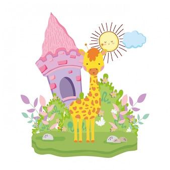 Netter und kleiner giraffencharakter