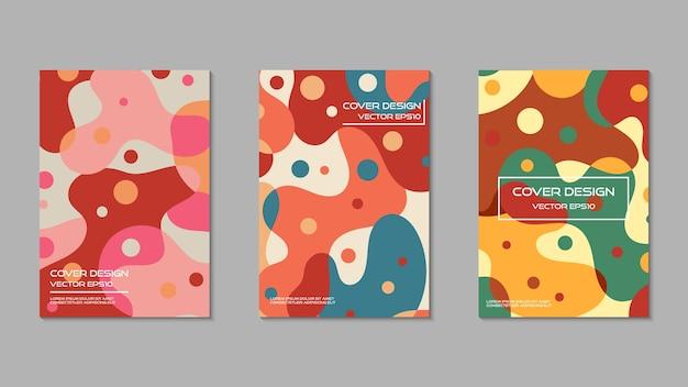 Netter und süßer farbabdeckungs-designschablonensatz