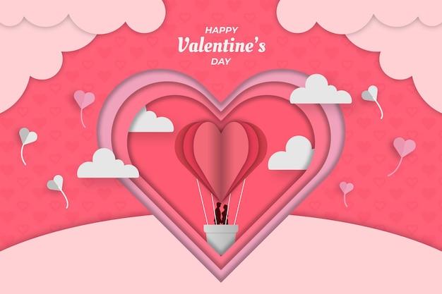 Netter valentine pink luftschiff hintergrund