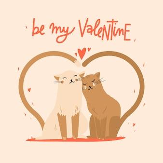 Netter valentines tag tier paar
