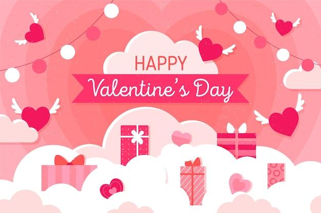Netter valentinstaghintergrund
