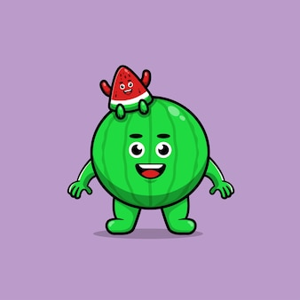 Netter wassermelonen-cartoon