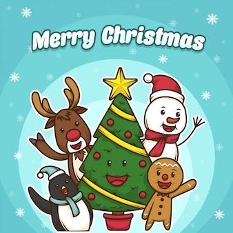 Netter weihnachtscharakter