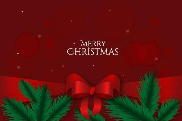 Netter weihnachtsfarbbandhintergrund