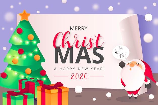 Netter weihnachtshintergrund mit santa character
