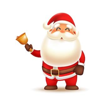 Netter weihnachtsmann, der glocke schellt