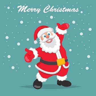 Netter weihnachtsmann, der weihnachten wünscht