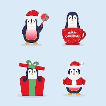 Netter weihnachtspinguin