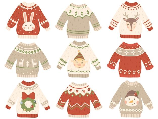 Netter weihnachtspulloversatz