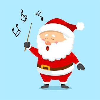 Netter weihnachtsweihnachtsmann singt