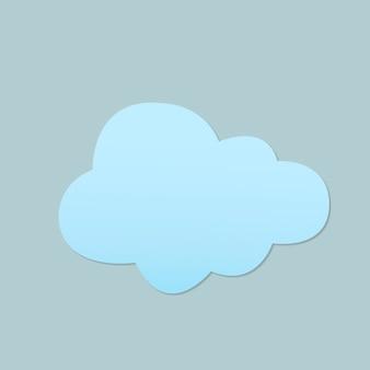 Netter wolkenaufkleber, druckbarer wetter-clipart-vektor