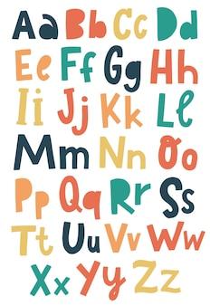 Nettes alphabet für kindergartenposter und drucke
