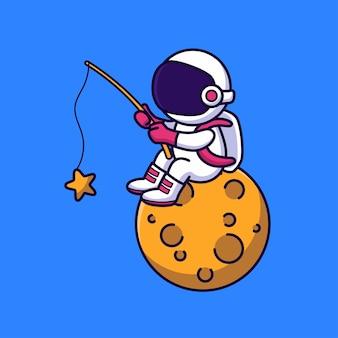 Nettes astronautenfischen