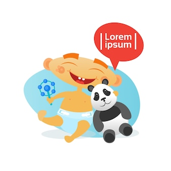Nettes baby-glücklicher umfassender panda-bär