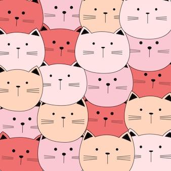 Nettes babykatzen-vektormuster