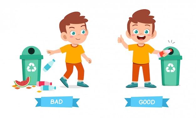 Nettes beispiel des antonyms des entgegengesetzten wortes für kind