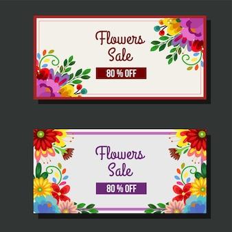 Nettes blütenblumenverkaufsbanner