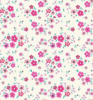 Nettes blumenmuster in den kleinen rosa blumen. ditsy print. nahtlos.
