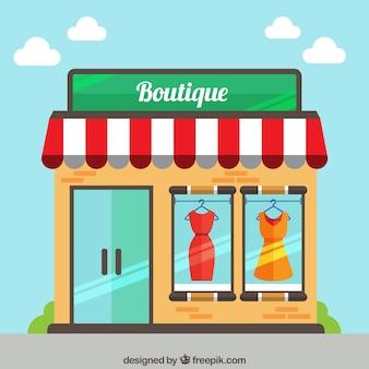 Nettes boutique auf der straße