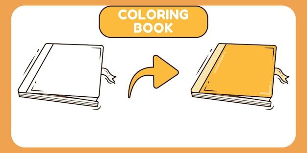 Nettes buch handgezeichnetes cartoon-gekritzel-malbuch für kinder