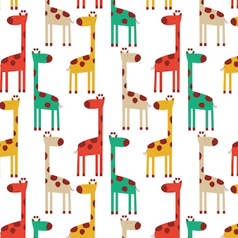 Nettes buntes giraffenmuster