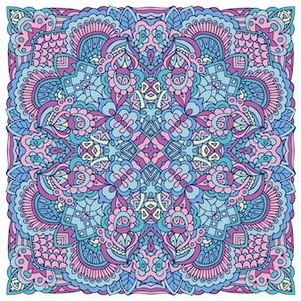Nettes buntes stammes- ethnisches festliches abstraktes blumenmuster. geometrische mandala-design.
