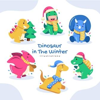 Nettes buntes weihnachten im winter