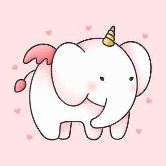 Nettes elefanten-einhorn
